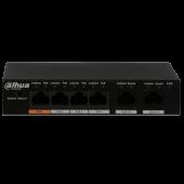 Неуправляемый 4-портовый Fast Ethernet PoE-коммутатор Dahua DH-PFS3006-4ET-60